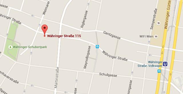Anfahrt Dr. Rainer Kunstfeld, Hautarzt 1180 Wien